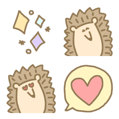 kawaii hedgehog everyday useful emoji