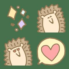 อิโมจิไลน์ kawaii hedgehog everyday useful emoji