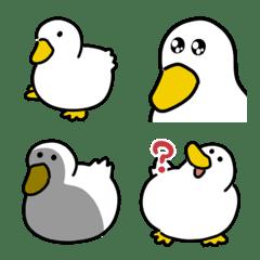 อิโมจิไลน์ White duck Emoji