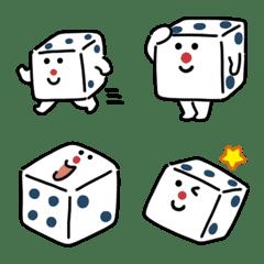 Cute dice Emoji