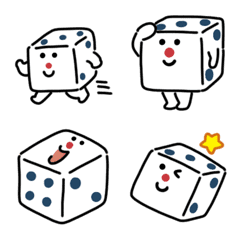 Cute dice Emoji