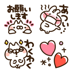 cat and rabbit emoji s