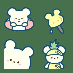 Summer's cute bear emoji