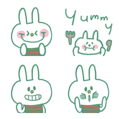 cute rabbit and speech bubble