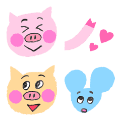 lovely pigs Emoji