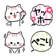 Cute Cat Nekunya Pop Emotions Emoji