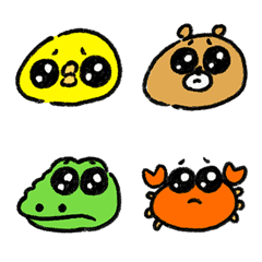 Animals with sad faces(emoji)