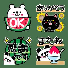 Bear & cat @ summer honorific mix emoji