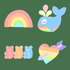 pastel rainbow emoji