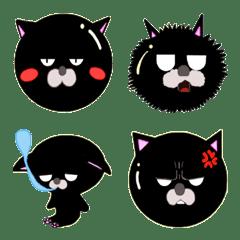 Glossy black cat  Emoji