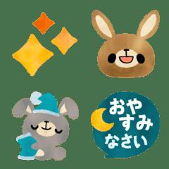 Honorific cute rabbit emoji