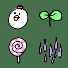 อิโมจิไลน์ Pastel color cute4