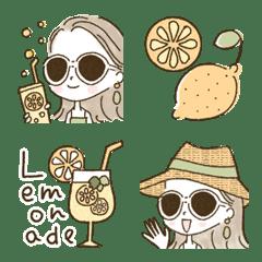 อิโมจิไลน์ Adult girly fashionable Emoji [LEMON]