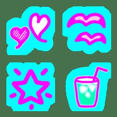 bluelightneon emoji part2 summerversion