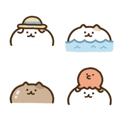 Look up cat emoji(summer)
