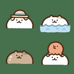 Look up cat emoji(summer)