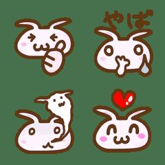 Cute rabbit reaction Emoji