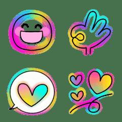 Cute Neon Stylish Pop Smile Emoji