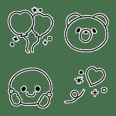 อิโมจิไลน์ simple line! smiley