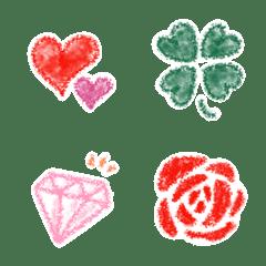 อิโมจิไลน์ Emoji drawn with crayons