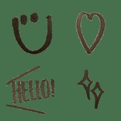 อิโมจิไลน์ graffiti emoji for ladys