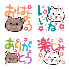 Cute Cat Nekunya Big Word Emoji