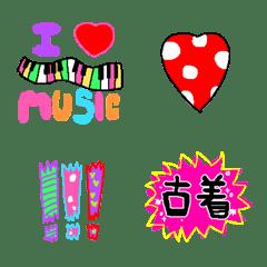 Colorful and flashy emoji