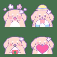 Dreamy and very cute dachshund emoji