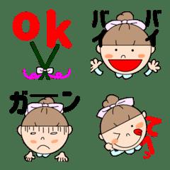 Emoticons of pretty girls.