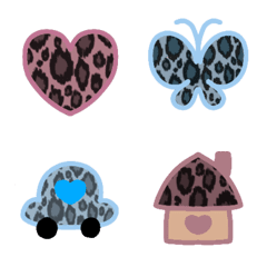 leopardpattern cawaii emoji part4