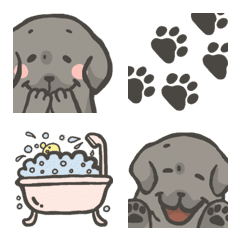 Black Labrador Retriever Basic Emoji 1