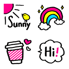 Hand drawn Emoji CMYK colors 02