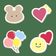 Cute sticker emoji