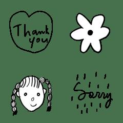 monochrome Emoji to you