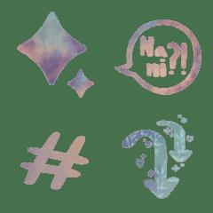 Colorful emoji mood