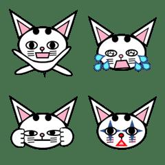 White cat Tenten:Emoji