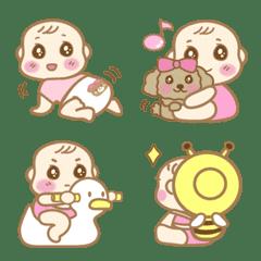 Life with a cute baby(Girl) Emoji vol.3