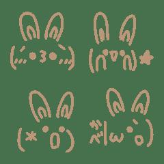 Simple cute emoticons-Rabbit 2
