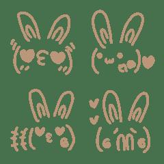 Simple cute emoticons-Rabbit 3 (heart)