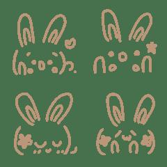 Simple cute emoticons-Rabbit 4