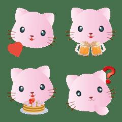 粉紅貓的可愛表情貼