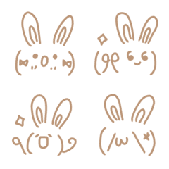 Simple cute emoticons-Rabbit 5