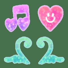 Kirakira heart neon frames