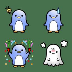 penguin&ghost emoji