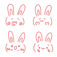 Simple cute rabbit emoticon...