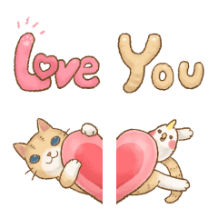 貓咪日和 甜蜜蜜表情貼