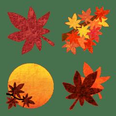 滿是楓樹的表情符號‼️秋天的Momiji