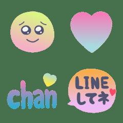 gradation color oshare emoji