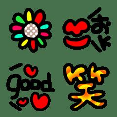 อิโมจิไลน์ You can use it! Thick Emoji