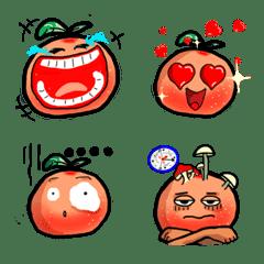 可愛小橘子實用日常表情貼